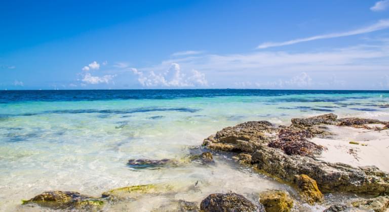 Küste in Quintana Roo, Mexiko