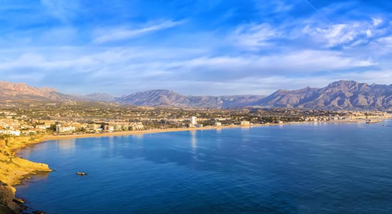 Blick auf Alicante, Spanien