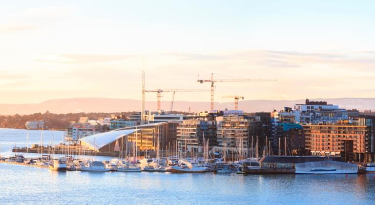 Blick auf Oslo, Norwegen