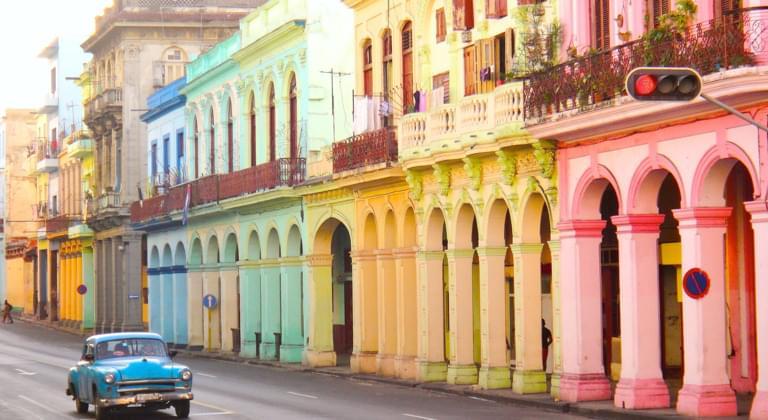 Oldtimer am Prado, Havanna