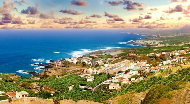 Panorama Sonnenuntergang Küste Gran Canaria