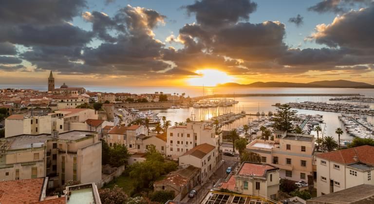 Blick auf Alghero Sardinien